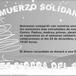 Almuerzo solidario el día 22 de diciembre