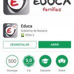 Aplicación EDUCA Familias para Android