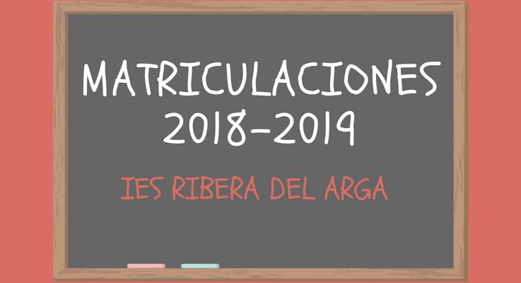 Matriculaciones. Curso 2018-2019